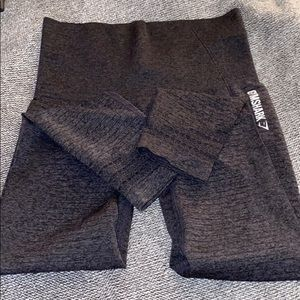 Gymshark Seamless dark grey full length leggings